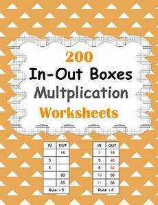 in and out boxes multiplication worksheets by whooperswan tpt