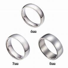 6mm 7mm 8mm stainless steel wedding bands ring size 6 15 ebay