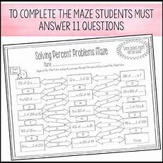 solving percent problems maze worksheet by amazing mathematics tpt