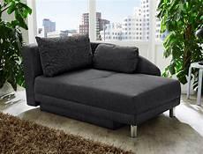 sofa mit bettkasten recamiere 149x90 cm anthrazit ottomane schlafsofa couch
