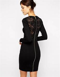 lyst ted baker dress with lace back in black