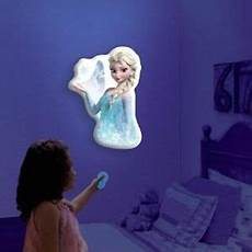 disney frozen elsa talking illuminated wall light record play back new ebay