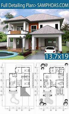 modern house plans sims 3 3 bedrooms villa plan 13 7x19m villa plan small cottage