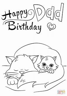 happy birthday coloring page free printable coloring