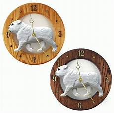 Inch Bulldog Wall Clock by Bulldog Wood Wall Clock Plaque Wht