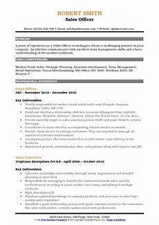 sales officer resume sles qwikresume