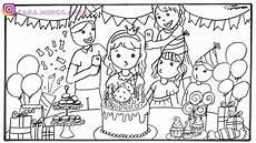 Gambar Kue Ulang Tahun Untuk Mewarnai Info Terkait Gambar