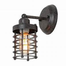 lnc 1 light rust cage industrial wall lighting wall sconce a03481 the home depot