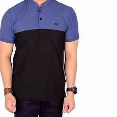 jual polo shirt polos pendek navy mix black baju kaos kerah polo pria di lapak adywek adywek524