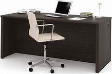 embassy dark chocolate 71 quot executive desk from bestar coleman furniture