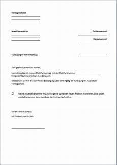 handy kündigung muster k 252 ndigung handyvertrag vorlage text word pdf