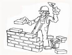 construction construction worker build a wall coloring