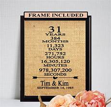 31st Wedding Anniversary Gift 31st wedding anniversary 25th anniversary gift wedding