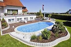 Garten Pool Selber Bauen - oval pool selber bauen eine traumhafte pool oase im