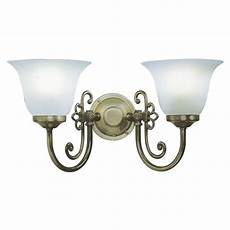 double or twin light antique wall light scroll detail and scavo shades