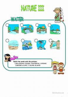 nature elements worksheets 15116 nature elements water matching worksheet free esl printable worksheets made by teachers