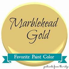 postcards from the ridge favorite paint color marblehead gold