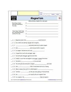 free differentiated worksheet for the bill nye the science magnetism differentiated
