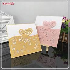14pcs wedding party invitation card laser cut butterfly pattern birthday card wedding