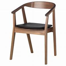 stockholm chair with chair pad walnut veneer brown