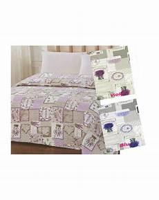 copriletto estivo trapuntino estivo per letto singolo disegno fiori di lavanda