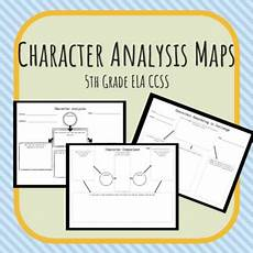 character analysis maps fifth grade by teacher s edition tpt