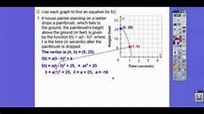 interpret vertex form and standard form module 6 3 youtube