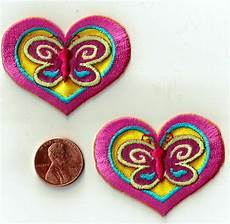 applique iron hearts butterfly iron on applique sewing fabric