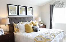 Yellow And Gray Bedroom Decorating Ideas by Model Home Mondays Diy Home Decor Home Decor Bedroom