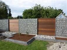 Gabionen Und Holz Garden Gardens And