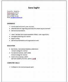resume sle for international relations