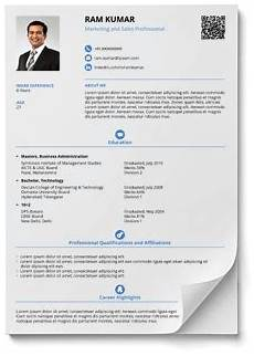 resume formats and style