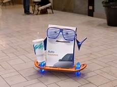progressive insurance commercial the box at the mall