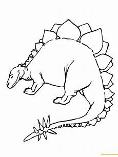 stegosaurus jurassic dinosaur coloring page free