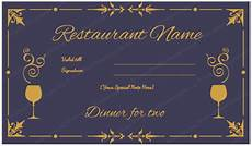 Dinner Gift Card Template Gift Certificate Templates