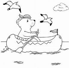 ausmalbild urlaub und reisen b 228 r paddelt im schlauchboot