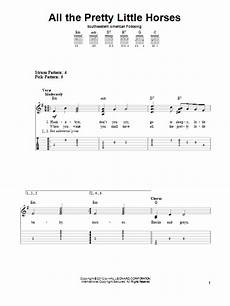 all the pretty little horses by traditional easy guitar