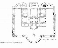 ancient roman house floor plan baths of trajan plan ancient rome how to plan