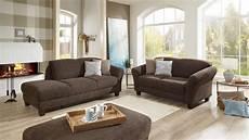 sofa garnitur garnitur gotland sofa recamiere stoff esspresso braun inkl