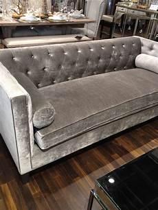 Sofa Samt Grau - silver velvet sofa embre curved sofa custom upholstery