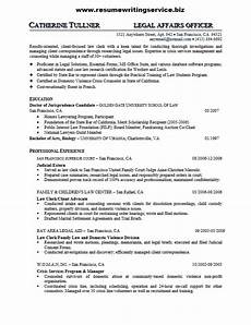 legal affairs officer resume sle resume writing service
