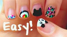 easy nail art designs for short nails for beginners diy tools youtube