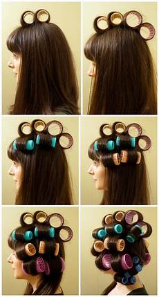 How To Style Hair With Velcro Rollers diy how to curl your hair with velcro rollers b g