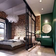 Loft Industriel Mur De Briques Salle De Bain Ouvert