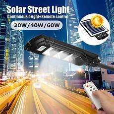 60 40 20w solar power led wall street light lighting