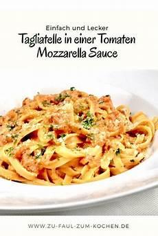 tagliatelle in einer tomaten mozzarella sauce