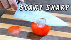 Sharpest Kitchen Knives In The World Testing The Sharpest Knife In The World