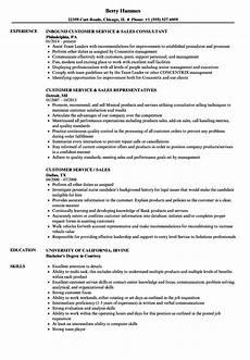 customer service sales resume sles velvet