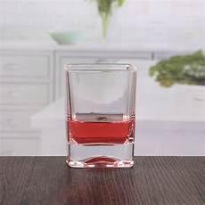 bicchieri quadrati bicchieri di cristallo quadrato di vetro di di 10