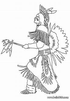 Indianer Muster Malvorlagen Indianerh Uptling Zum Ausmalen Coloring Pages